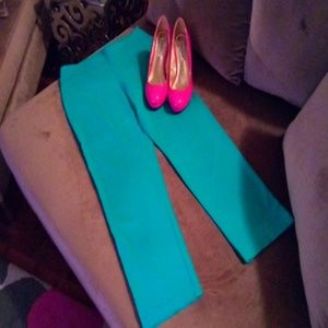 Turquoise stretch 3/4 pant